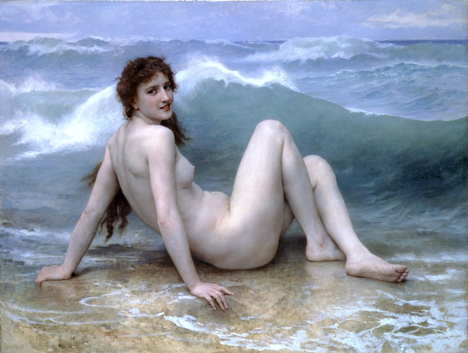 Achat Reproductions De Peintures | le onde de William Adolphe Bouguereau | AllPaintingsStore.com