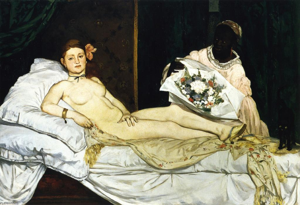 famous painting Olympie of Edouard Manet