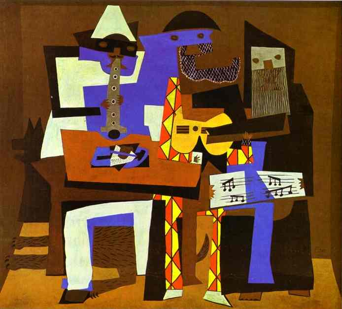 famous painting trois musiciens of Pablo Picasso