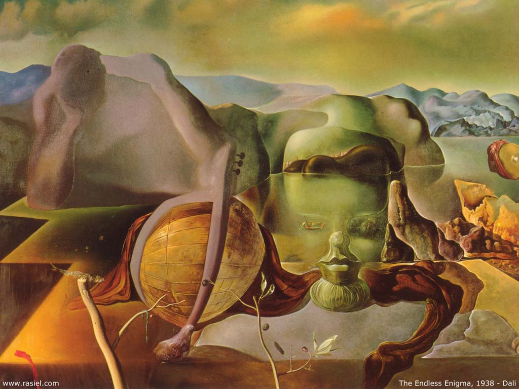 famous painting L'infini énigme  of Salvador Dali