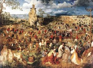 Pieter Bruegel The Elder - Le Christ portant la cross