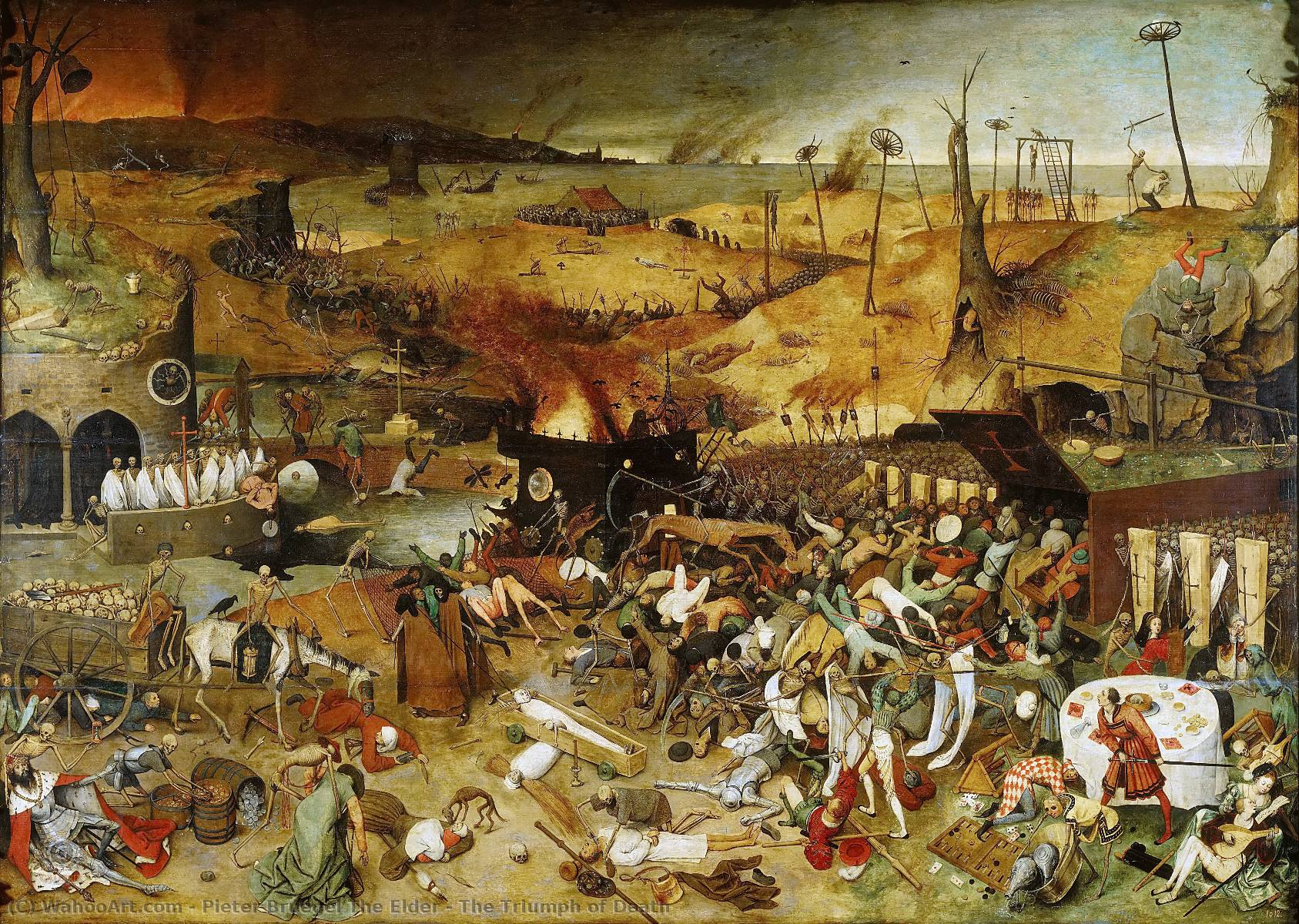 famous painting Le Triomphe de la Mort of Pieter Bruegel The Elder