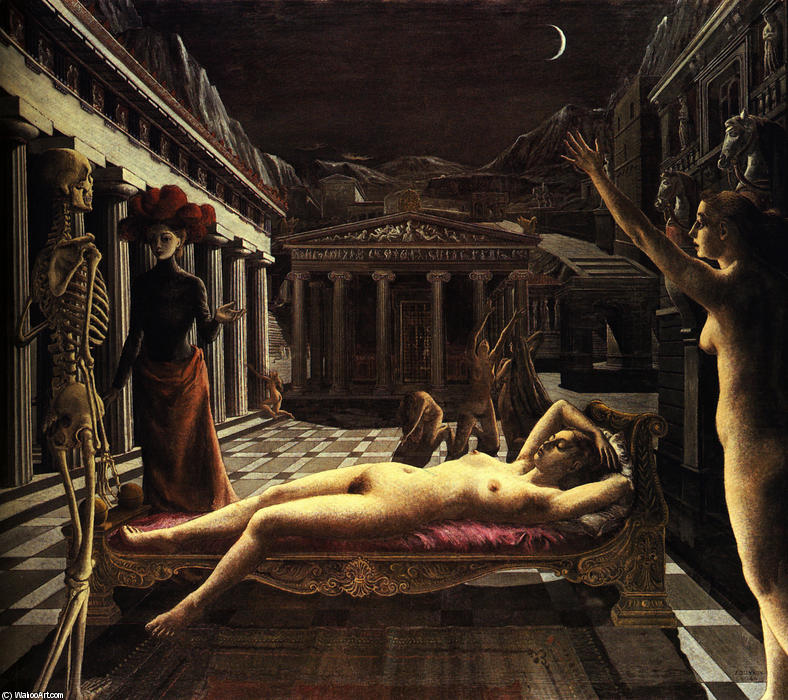 famous painting le dormir venus of Paul Delvaux