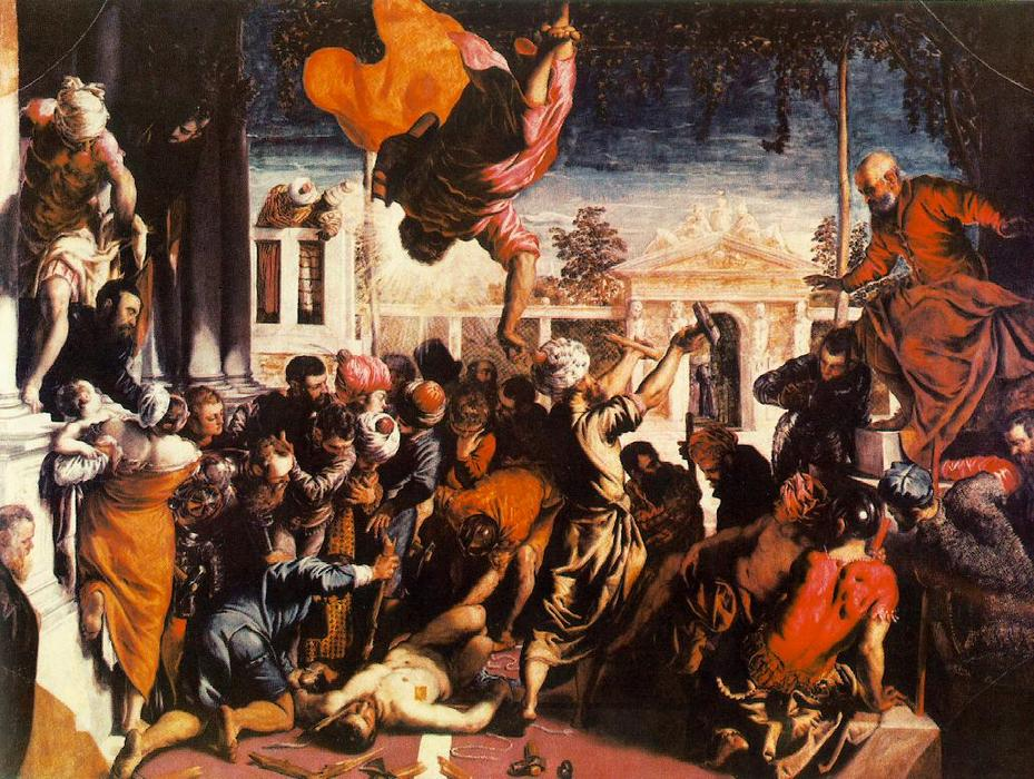 famous painting Le miracle de St Mark Libérer l esclave of Tintoretto (Jacopo Comin)