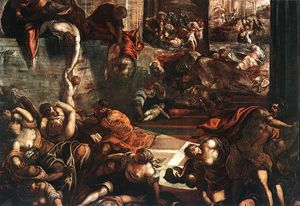 Tintoretto (Jacopo Comin) - Le massacre des innocents