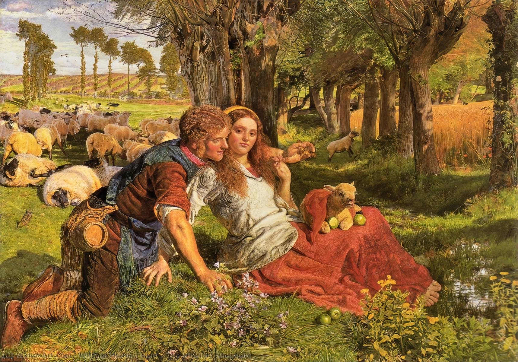 famous painting le berger hireling of William Holman Hunt
