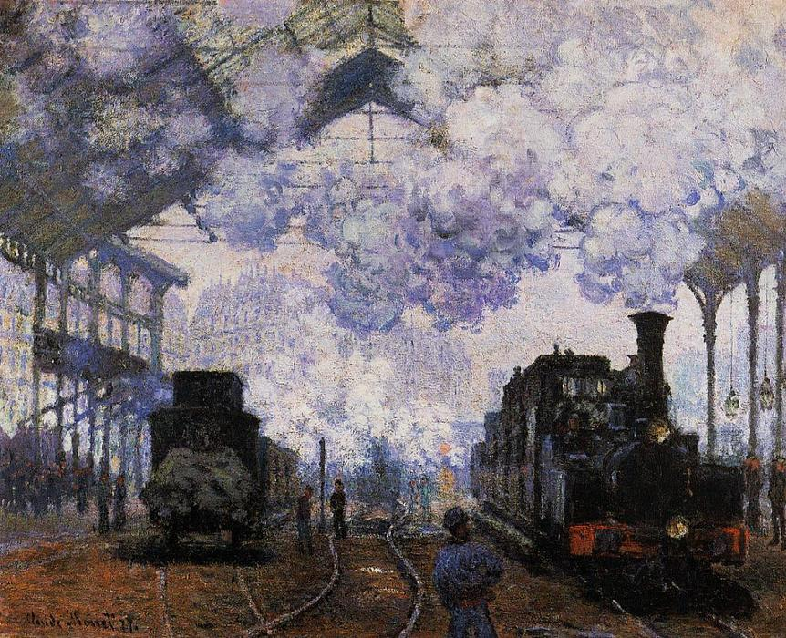famous painting Arrivée à Saint-Lazare Station of Claude Monet
