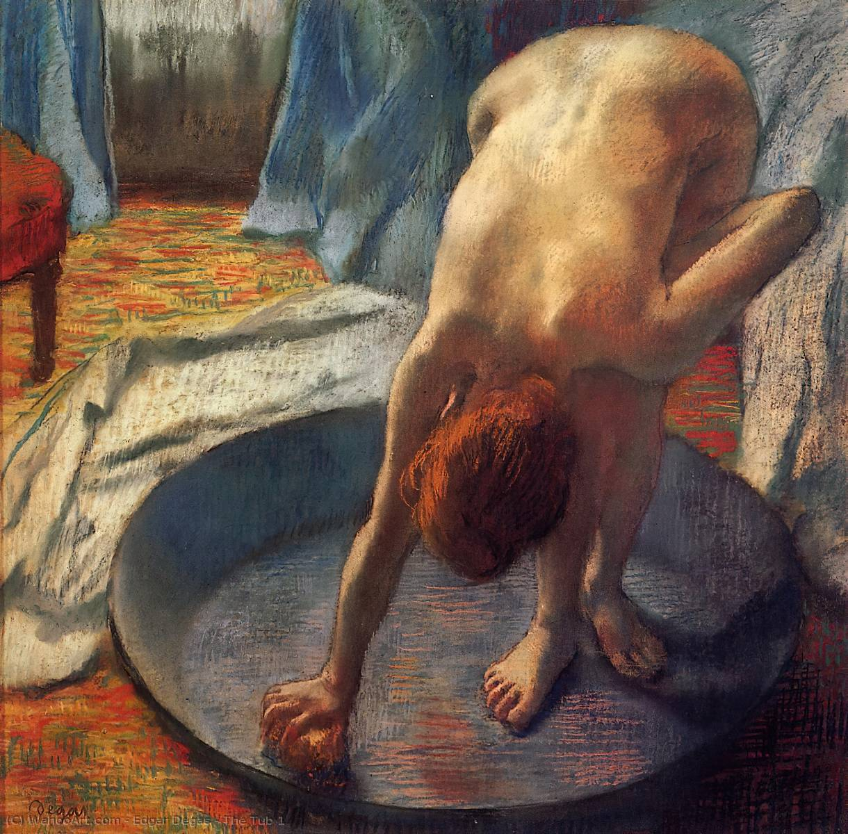 famous painting Le Tub 1   of Edgar Degas