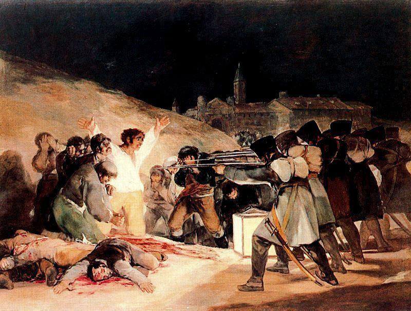 famous painting 3rd  pouvoir  1808   dans  Madrid  of Francisco De Goya
