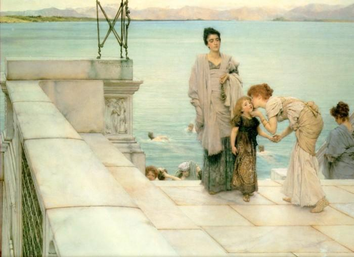 famous painting a baiser of Lawrence Alma-Tadema