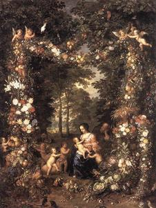 Jan Brueghel The Elder - la sainte famille 1