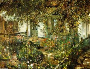 Lovis Corinth (Franz Heinrich Louis) - Farmyard in Bloom