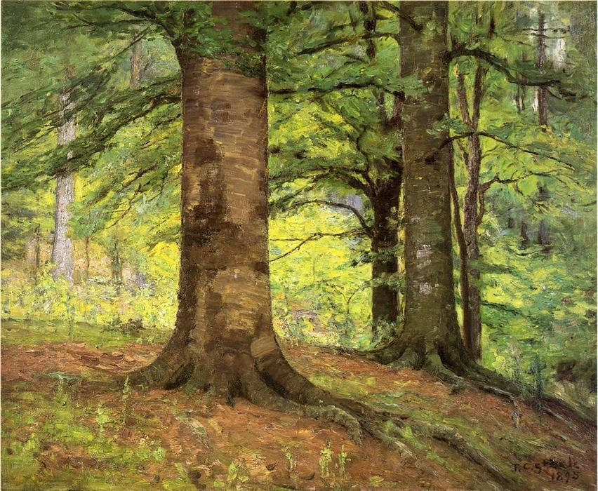 famous painting hêtre arbres of Theodore Clement Steele
