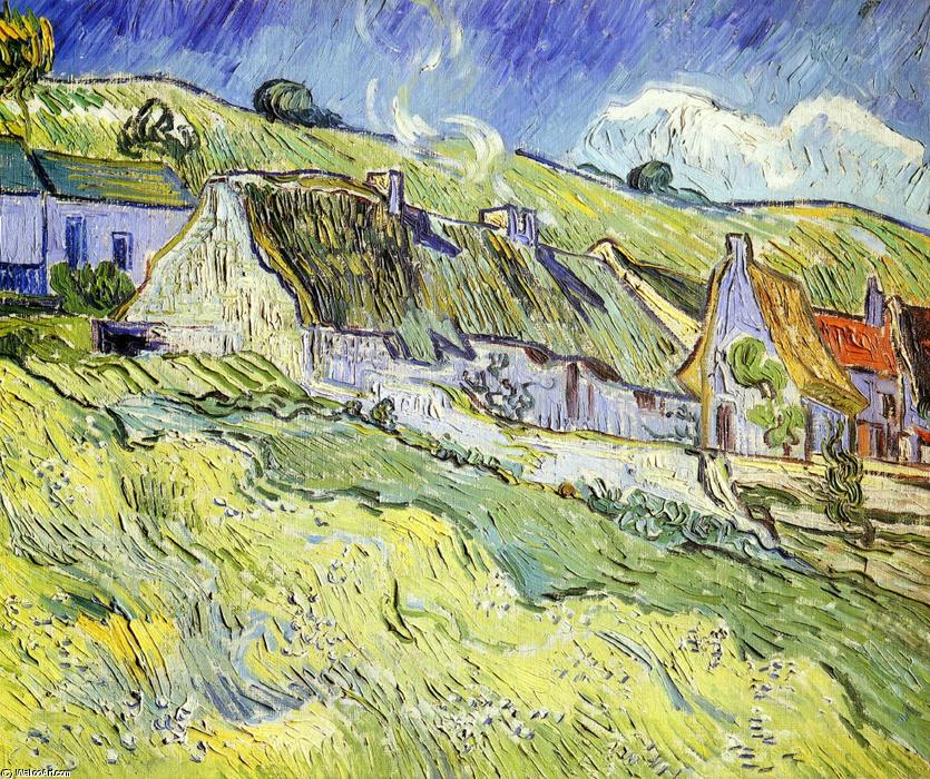 famous painting un groupe de chalets of Vincent Van Gogh