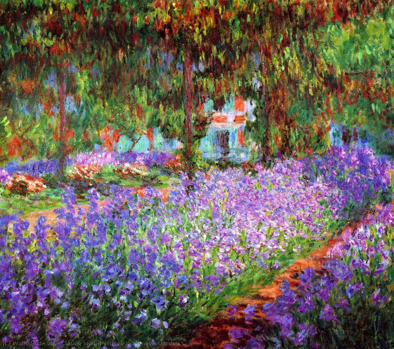famous painting iris dans monet jardin of Claude Monet