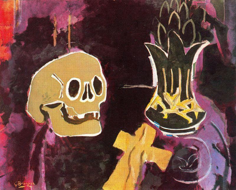 nature morte avec crâne de Georges Braque