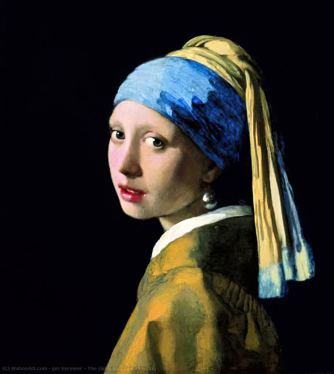 famous painting La Jeune Fille à la perle of Jan Vermeer