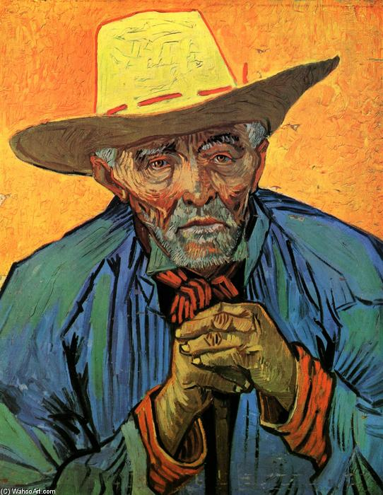 famous painting Portrait de patience escalier of Vincent Van Gogh
