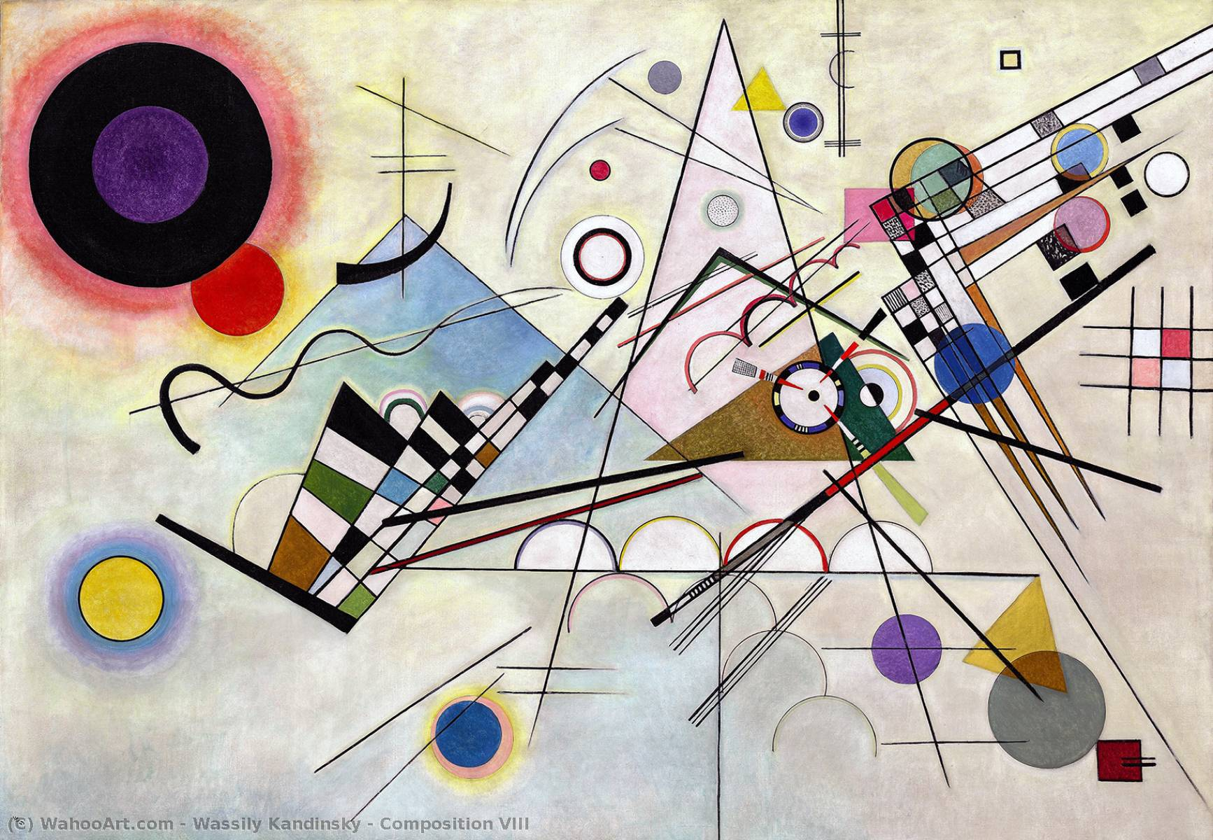 famous painting composition viii of Wassily Kandinsky