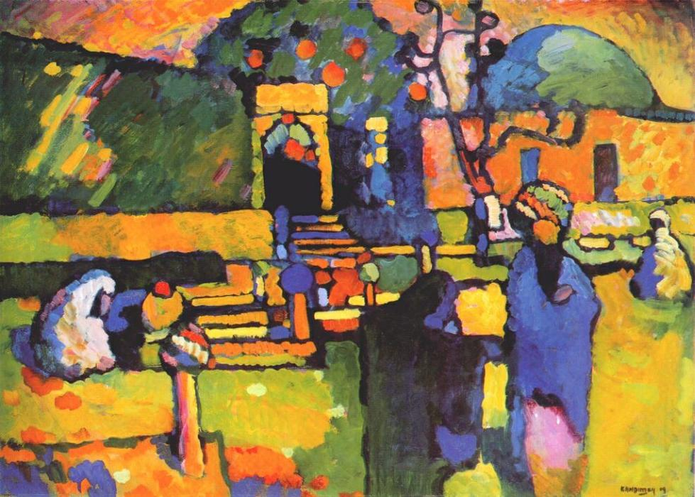 famous painting Arabes Je  Cimetière  of Wassily Kandinsky