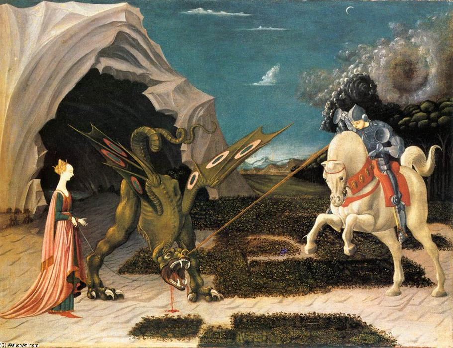 famous painting St . george et le dragon of Paolo Uccello
