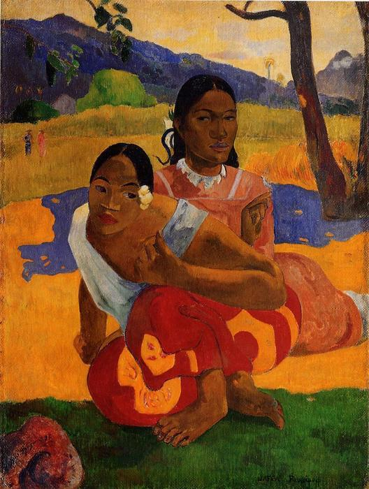 famous painting nafeaffaa ipolpo ( également connu sous le nom de when will you marry . ) of Paul Gauguin