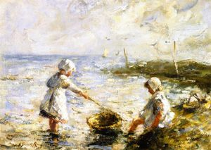 Robert Gemmell Hutchison - Pagayer dans les Shallows
