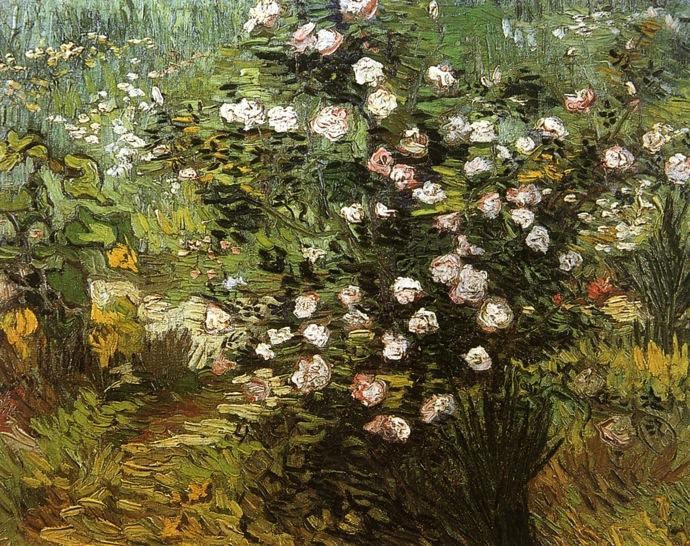famous painting Rosier Je  Fleur  of Vincent Van Gogh