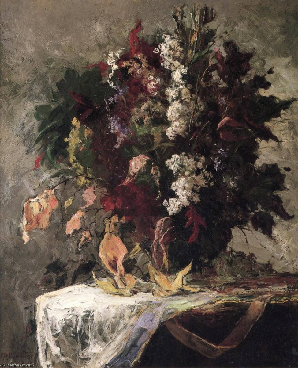 famous painting nature morte florale of Edward Mitchell Bannister
