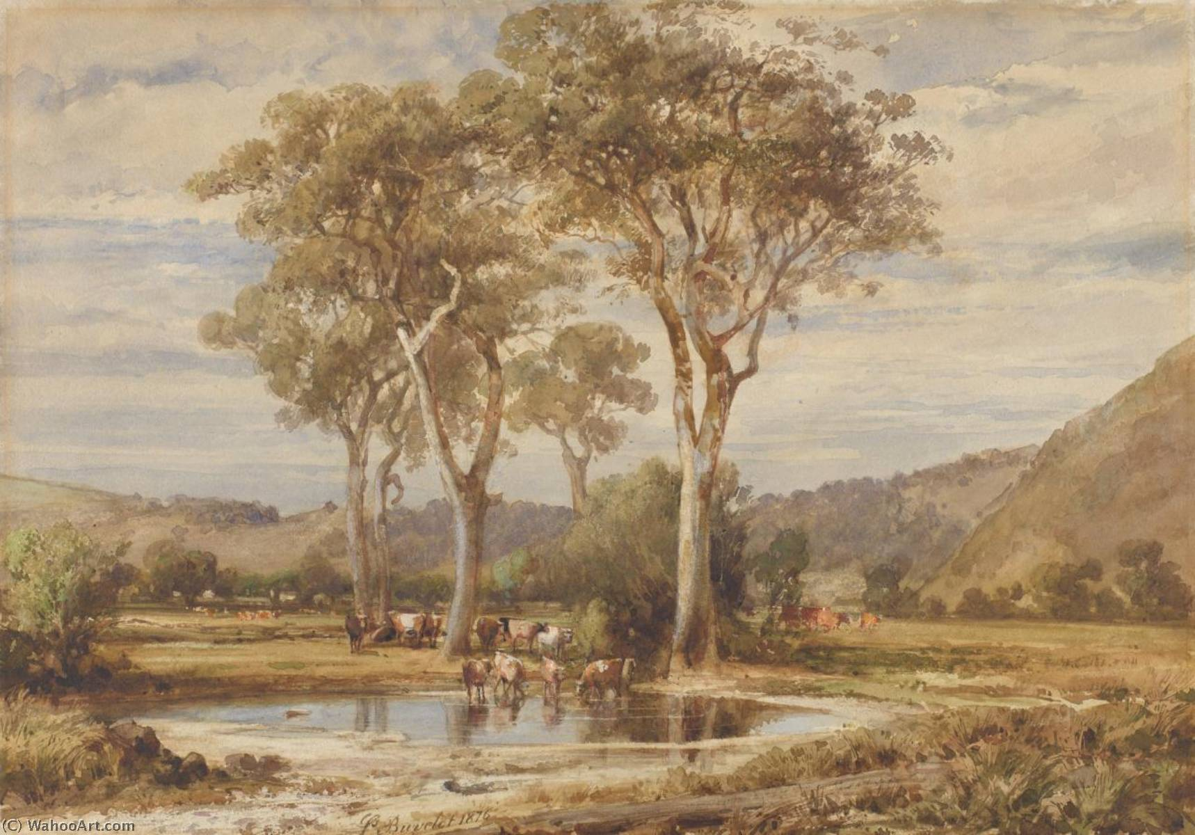 famous painting Paysage of Louis Buvelot