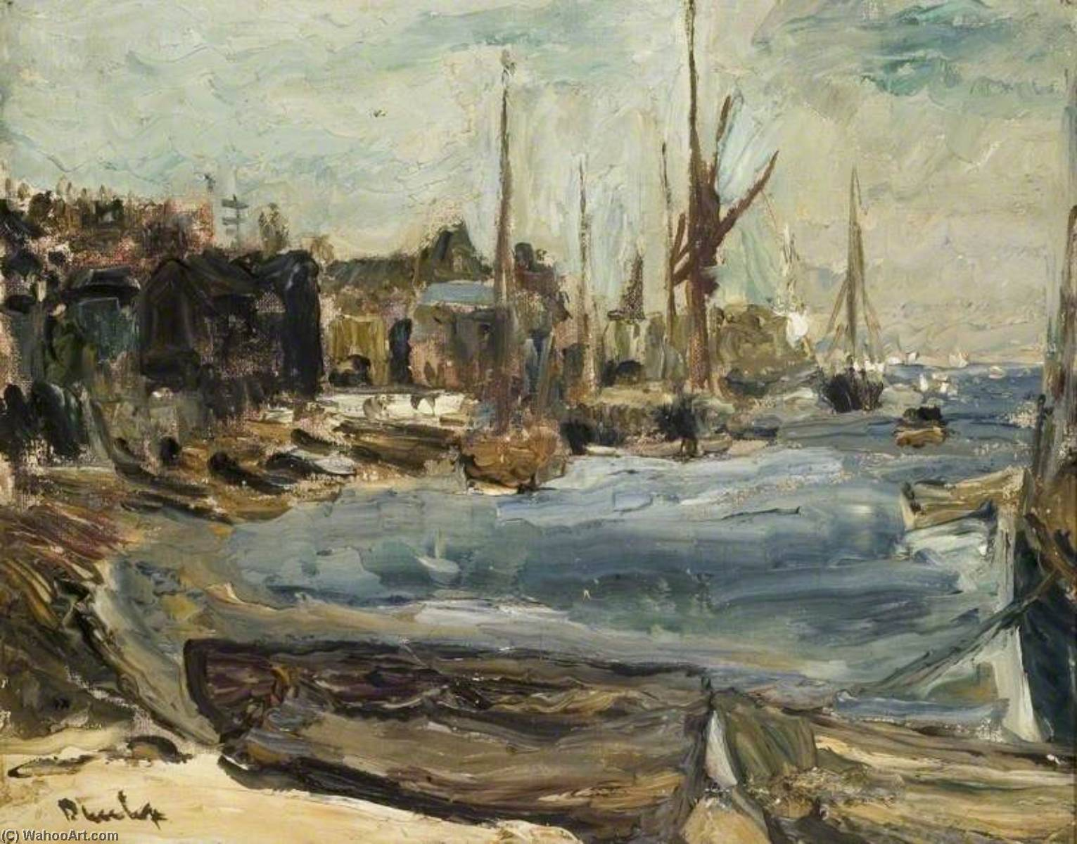 famous painting le harbour , Leigh sur mer of Ronald Ossory Dunlop